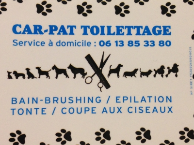 Carte De Visite CAR PAT TOILETTAGE